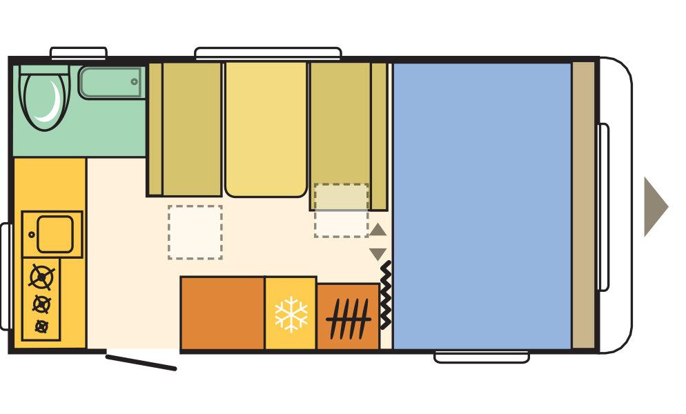 Adria Aviva 442PH esquema interior dia