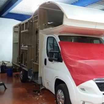 taller de reparación autocaravana