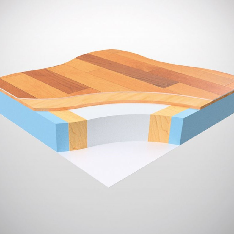 Nueva estructura de suelo FPS con recubrimiento de fibra de vidrio happy 2019