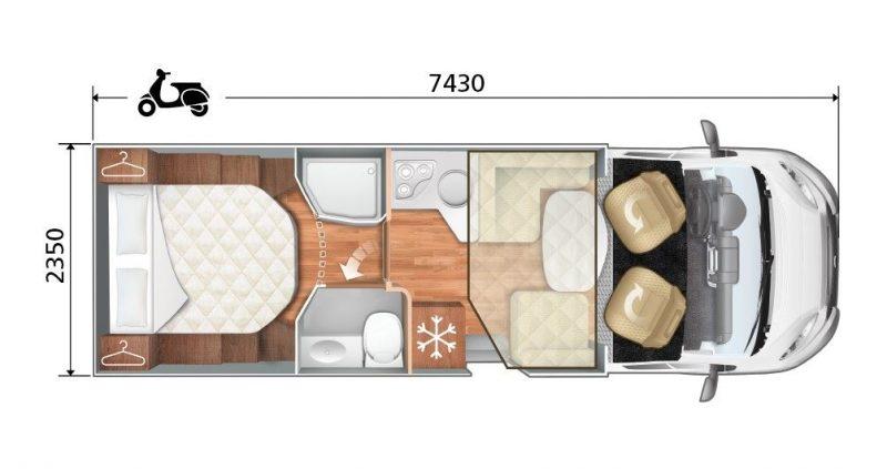 ROLLER TEAM ZEFIRO 265 TL INTEGRAL A-CLASS esquema