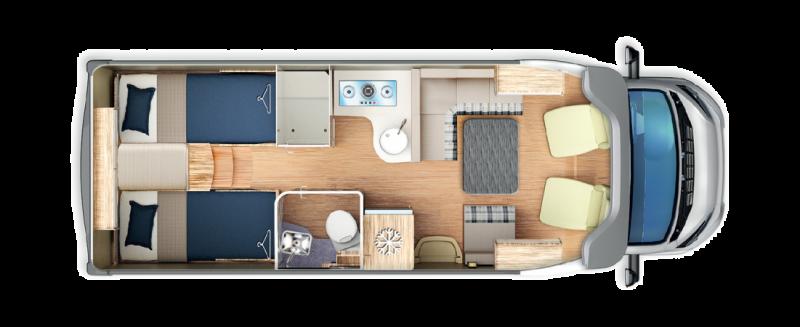 giottiline Terry 45 configuración interior